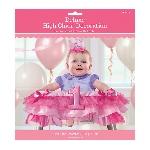 Decoración para Silla Alta de Bebé Primer Cumpleaños Rosa Niña