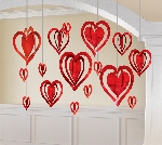 Decoraciones Colgantes Corazones 3D San Valentín
