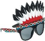 Gafas con Patrón Bandana y Gorra Estílo Indio