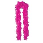 Boa de plumas de lujo en color rosa 80g - 180cm