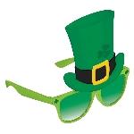 Gafas con Gorro San Patricio Verdes de Novedad - 15cm