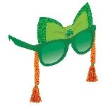 Gafas Verdes con Moño y Trenzas Pelirrojas a los costados de Novedad - San Patrício 15cm