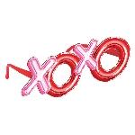 Gafas divertidas de San Valentín XOXO