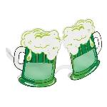 Gafas con forma de vasos de cerveza verde