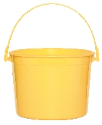 Cubo amarillo de plástico-15cm