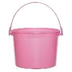 Cubo rosa chicle de plástico-15cm