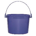 Cubo violeta de plástico-15cm
