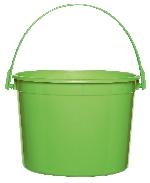 Cubo verde lima de plástico-15cm