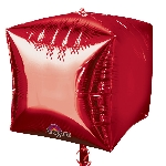 Globo Rojo Cubo - Aluminio 38cm - Sin empaquetar