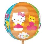 Globo Esfera Hello Kitty - Aluminio 16'-18'