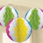 Balones de playa de papel de panal de abeja