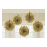 Rosetones de papel decorativos en dorado-15cm