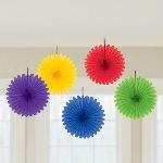 Decoracion Colgante Abanico Rainbow Mini Paper Fans 15cm