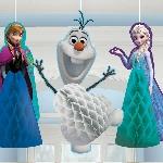 Adornos de papel de panal para colgar de Frozen