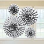 Rosetones decorativos de papel plateado