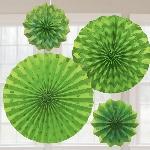 Rosetones de papel decorativos verde lima