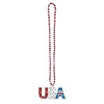 Collar de Cuentas Bling USA Celebración Día de la Independencia