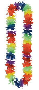 Collar de Flores Lei Hawaianas Arcoíris