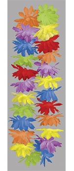 Collar de Flores Hawaianas Multicolor