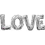 Globo plateado metalizado Love 63cm