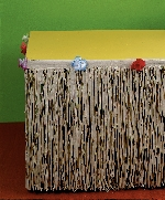 Falda Flecos de Papel Natural para Mesa - Decoración Hawaiana 3m