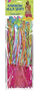 Falda Hawaiana Hula Falda de Rafia - Multicolor