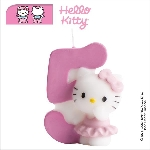 Vela Hello Kitty 7cm: N�5