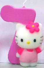 Vela Hello Kitty 7cm: N�7