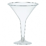 Copa Clear Plastic Martini Glasses 235ml