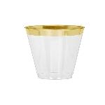 Vaso tipo Tumbler Premium con Borde Dorado - 266ml