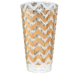 Vasos tipo Tumbler Chevron Rosa Dorado Premium - 455ml