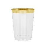 Vaso tipo Tumbler con Borde Dorado Premium - 295ml