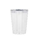 Vaso tipo Tumbler con Borde Plateado Premium - 295ml
