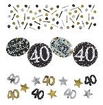 Confeti de chispas de celebración para fiesta de 40 años - 34g