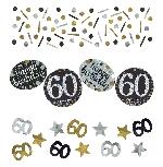 Confeti Cumpleaños Edad 60 Celebración Sparkling 34g