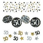 Confeti de chispas de celebración de 50 años - 34g