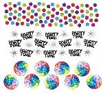 Fiebre Disco Años 70 Confeti Papel Picado - Bolsa de Confeti de 34g para Mesa