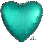 Globo Corazón verde Satinado Metalizado - 45cm