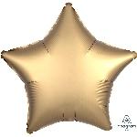 Globo Metalizado Satinado de Lujo con forma de Estrella Dorada - 45cm