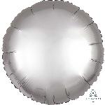 Globo redonde color plata satinado - Metalizado 45cm