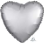 Globo corazón color Plata satinado - Metalizado 45cm