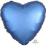 Globo Corazón color Azul satinado - Metalizado 45cm