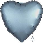 Globo Corazón color metal azulado satinado - Metalizado 45cm