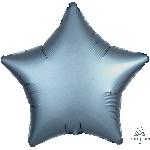 Globo estrella color metal azulado satinado - Metalizado 45cm