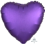 "18""/45cm CORAZON Satin Purple Royale Heart"