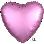 "18""/45cm CORAZON Satin Flamingo Heart"