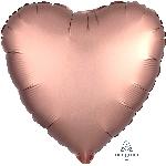 Globos Rosa Bronce Satinado Corazón Lujoso - Aluminio 18''