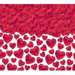 Confeti Hearts Red 70g