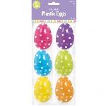 Huevos de Pascua para rellenar Grandes Polka Dot - 7,6cm