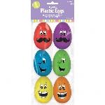 Huevos de Pascua para rellenar Grandes con Caras Graciosas - 5,7cm